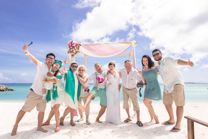 Ron and Aleenas  Beach Wedding in Maldives by Asad's Photography - 006