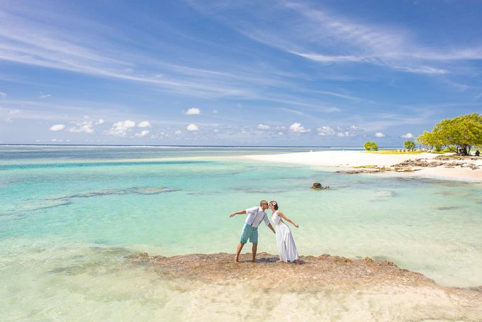 Ron and Aleenas  Beach Wedding in Maldives by Asad's Photography - 011