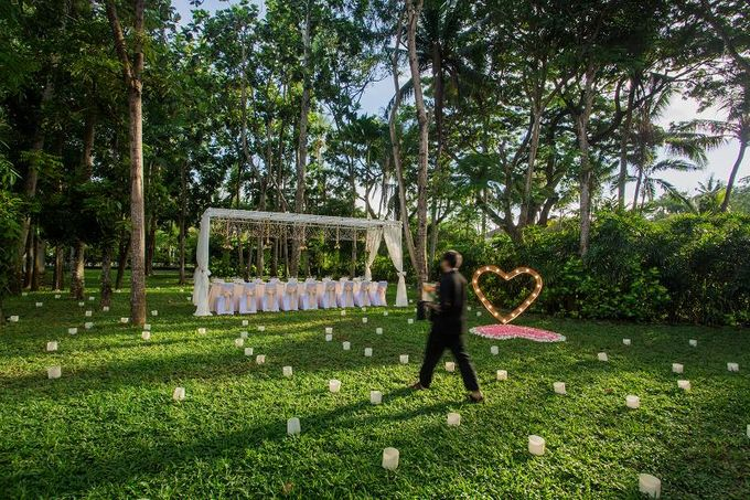 kayumanis nusa dua-dinner reception-green patio by Kayumanis Private Villa and Spa - 008