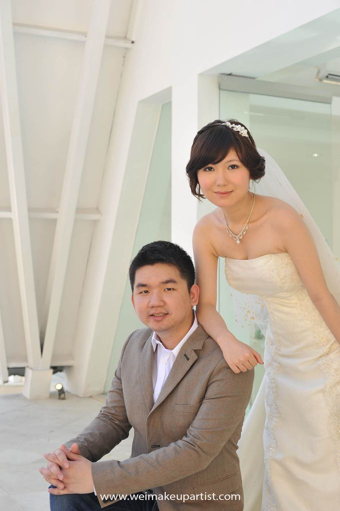 Wedding Makeup and Hair do for Sophie & Hardi by Wei Makeup Artist by Wei Makeup Artist - 004