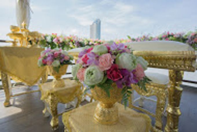 River Cruise Wedding with Monk Blessing by Dream Asia Weddings - 001
