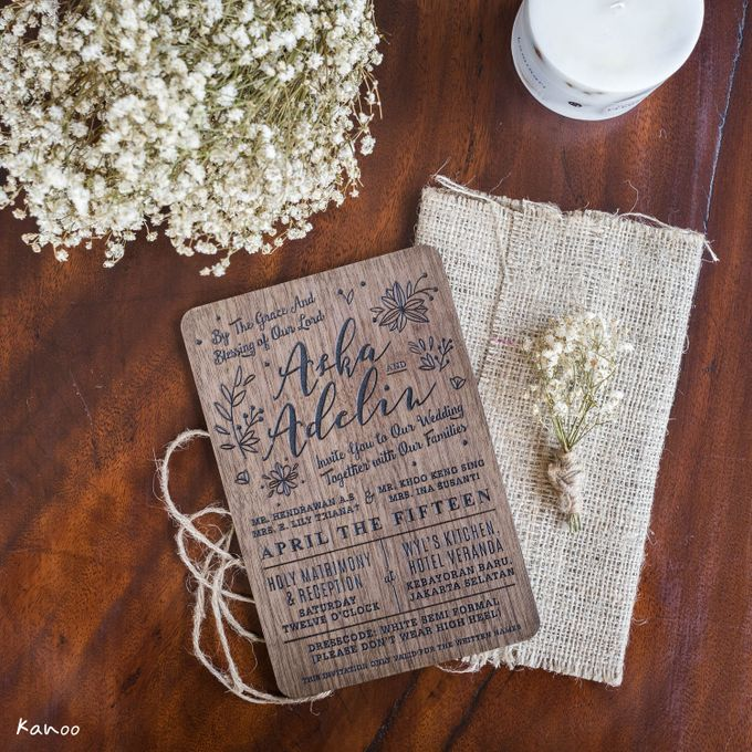 Wedding Invitation - Forever Rustic by Kanoo Paper & Gift - 001