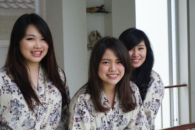 Bridesmaids Robes for CA Wedding Jakarta by Serendipicky - 005