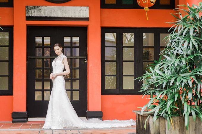 An Urban Bridal Styled Shoot in Joo Chiat Singapore by Peach Frost Studio - 022