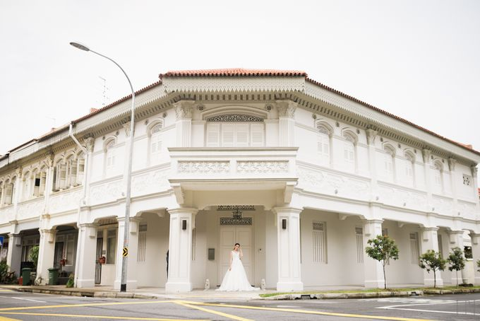 An Urban Bridal Styled Shoot in Joo Chiat Singapore by Peach Frost Studio - 001