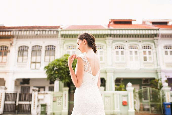 An Urban Bridal Styled Shoot in Joo Chiat Singapore by Peach Frost Studio - 009