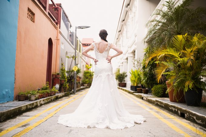 An Urban Bridal Styled Shoot in Joo Chiat Singapore by Peach Frost Studio - 010