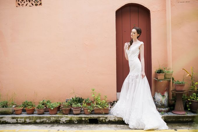 An Urban Bridal Styled Shoot in Joo Chiat Singapore by Peach Frost Studio - 011