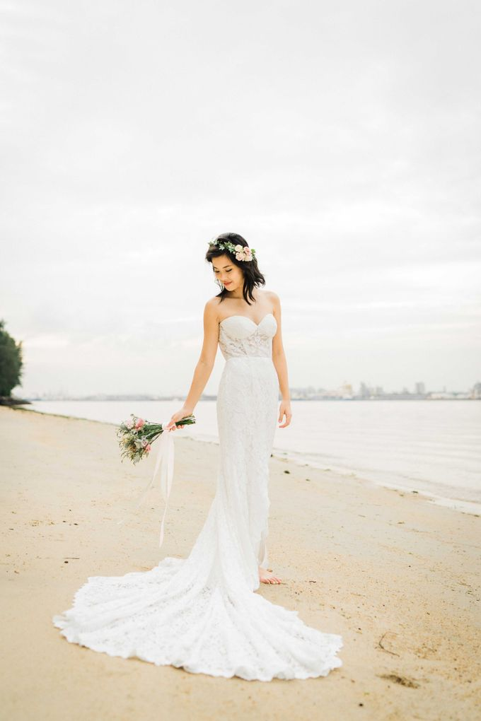 A Ethereal Bohemian Shoot at Coney Island by Frieda Brides - 009