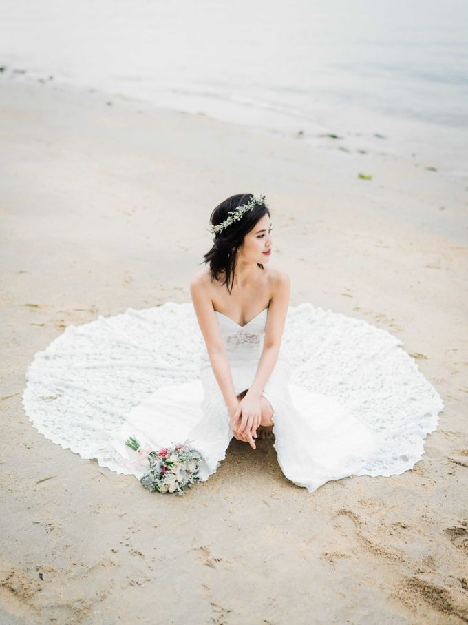 A Ethereal Bohemian Shoot at Coney Island by Frieda Brides - 012