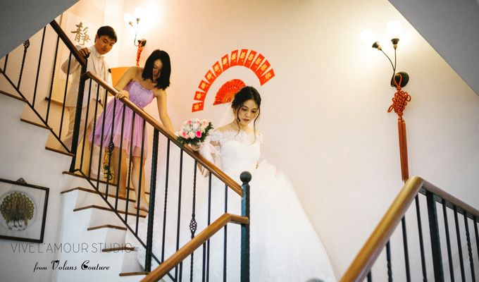 Eileen &  Zhang Fang Actual Wedding Day by Majella's Studios - 006