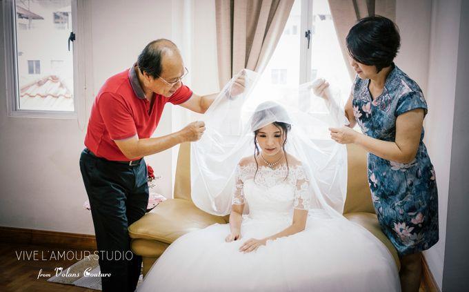 Eileen &  Zhang Fang Actual Wedding Day by Majella's Studios - 009
