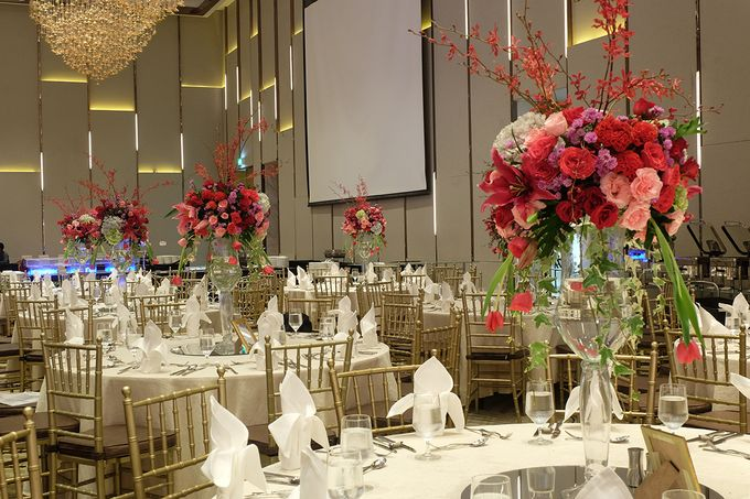 The Wedding of Raynald & Lieke - The Westin Jakarta by The Swan Decoration - 028