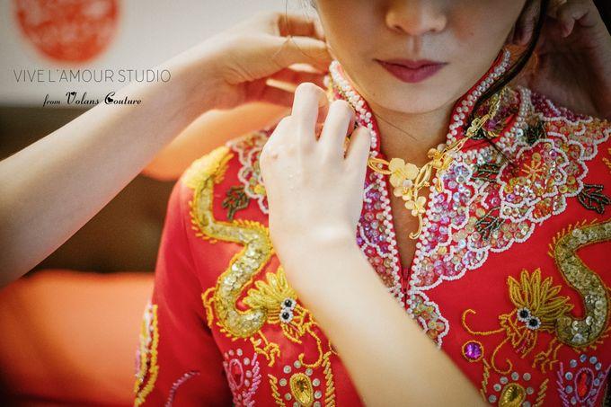 Eileen &  Zhang Fang Actual Wedding Day by Majella's Studios - 020