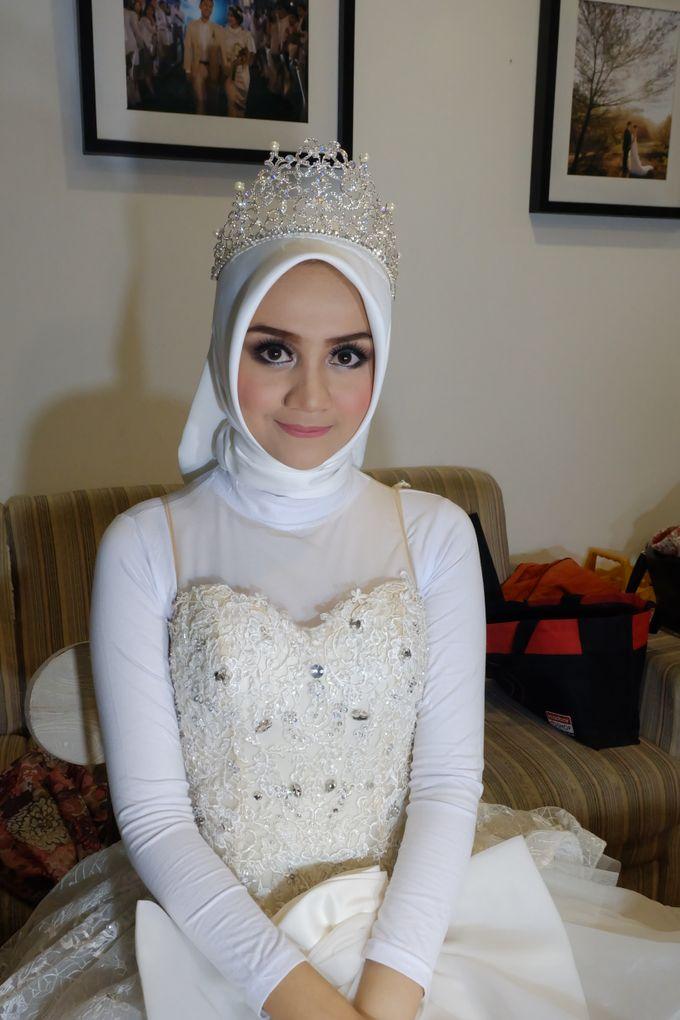 international wedding hijab by White Make Up and Hair Do - 001