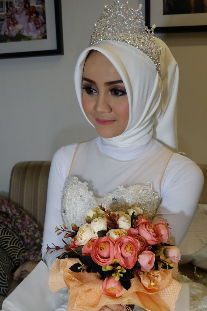 international wedding hijab by White Make Up and Hair Do - 002