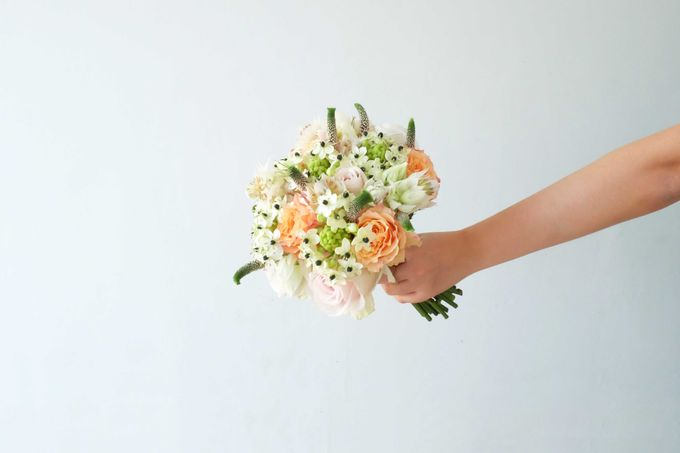 Blush Coral Pink Bouquets by Il Fiore - 015