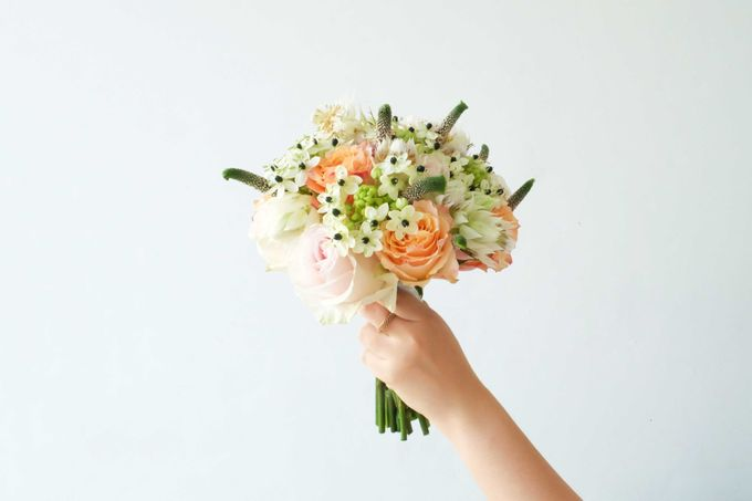 Blush Coral Pink Bouquets by Il Fiore - 001