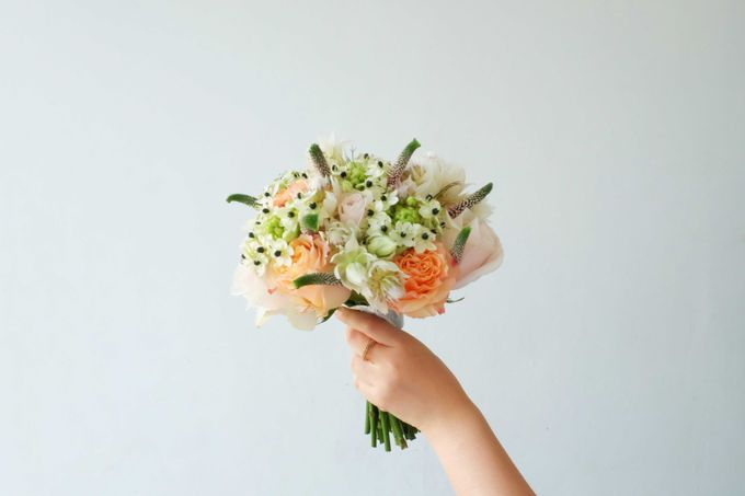 Blush Coral Pink Bouquets by Il Fiore - 003