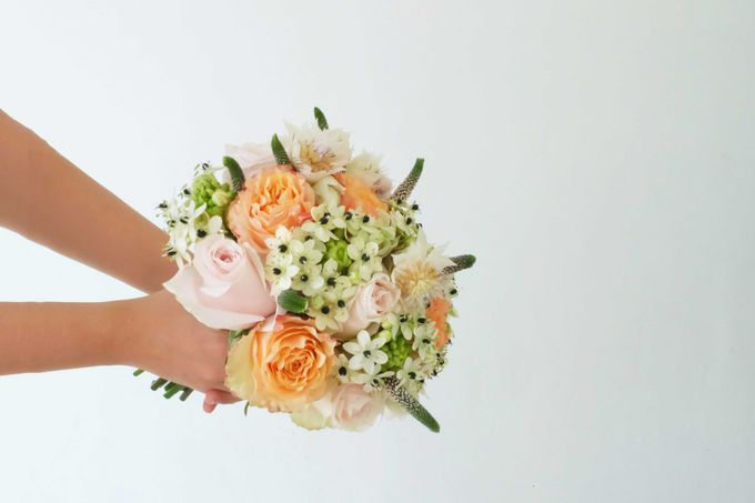 Blush Coral Pink Bouquets by Il Fiore - 004