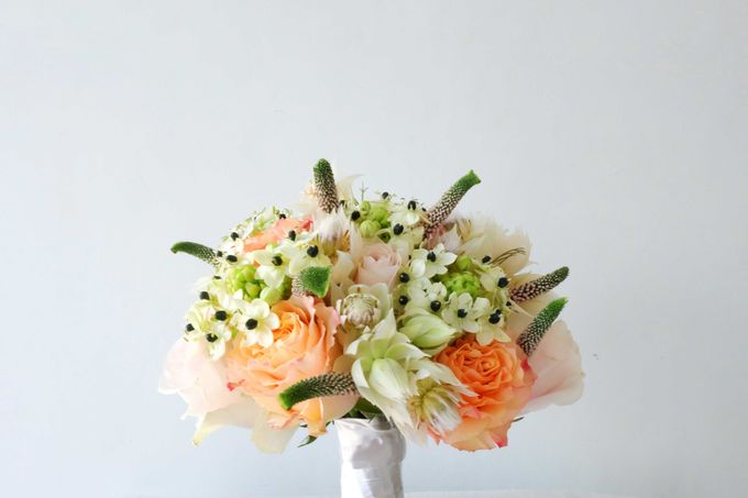 Blush Coral Pink Bouquets by Il Fiore - 006