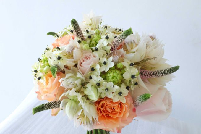 Blush Coral Pink Bouquets by Il Fiore - 005