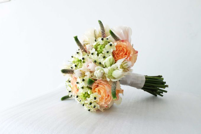 Blush Coral Pink Bouquets by Il Fiore - 008