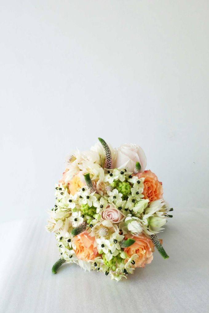 Blush Coral Pink Bouquets by Il Fiore - 009