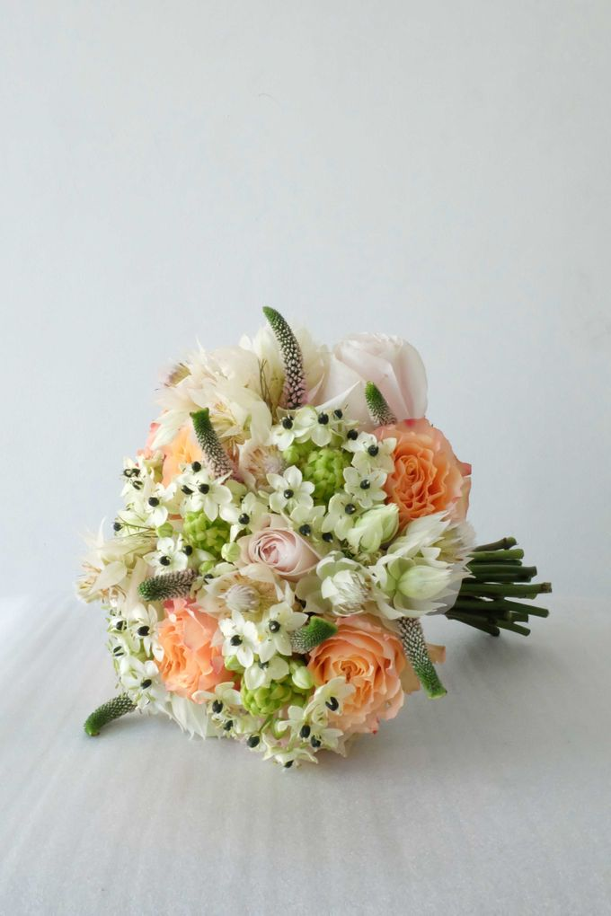 Blush Coral Pink Bouquets by Il Fiore - 010
