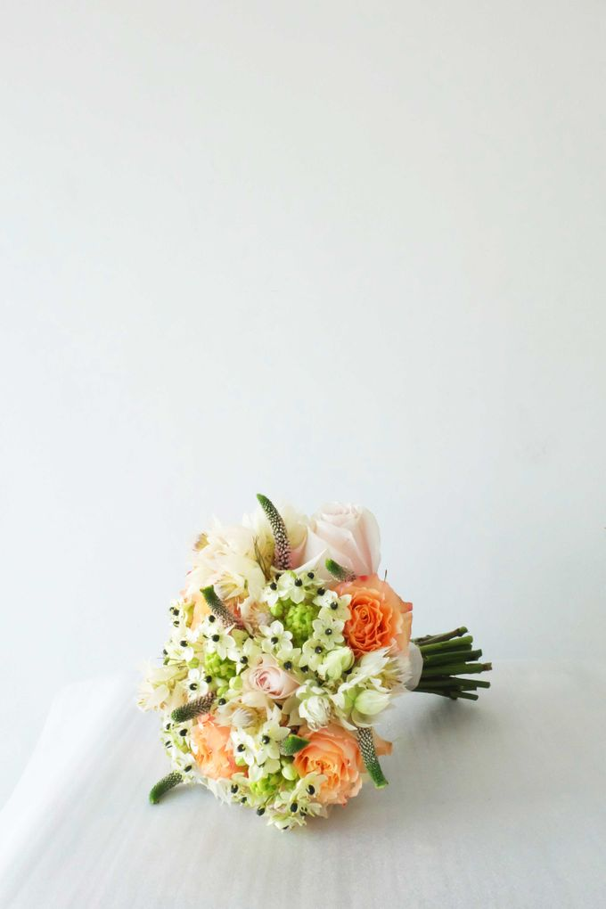 Blush Coral Pink Bouquets by Il Fiore - 011