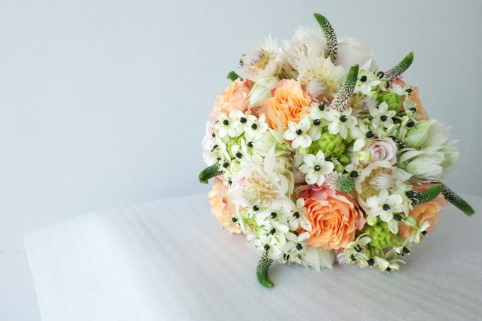 Blush Coral Pink Bouquets by Il Fiore - 012