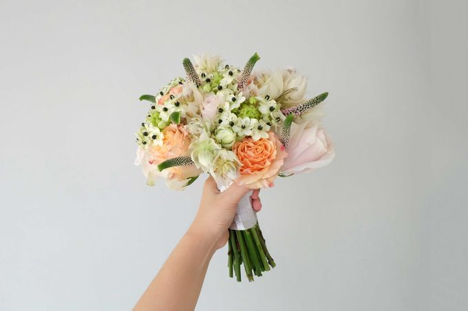 Blush Coral Pink Bouquets by Il Fiore - 014
