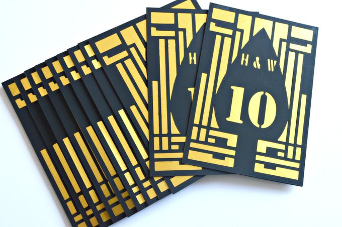 Art deco Table numbers by Jasmine wedding prints - 005
