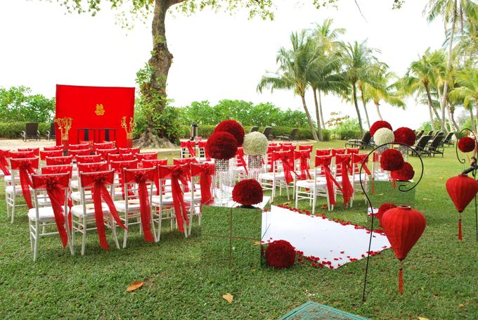 An Oriental Wedding by the Beach by Shangri-La Rasa Sayang Resort - 005