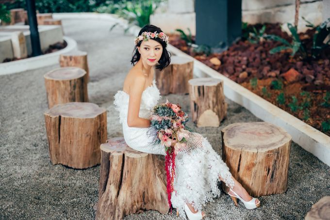 Styled Wedding Shoot with Melissa C Koh by Ever & Blue Floral Design - 001