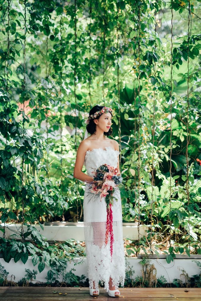 Styled Wedding Shoot with Melissa C Koh by Ever & Blue Floral Design - 003