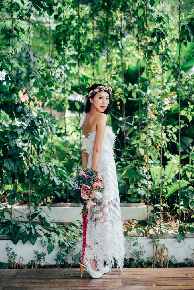 Styled Wedding Shoot with Melissa C Koh by Ever & Blue Floral Design - 007