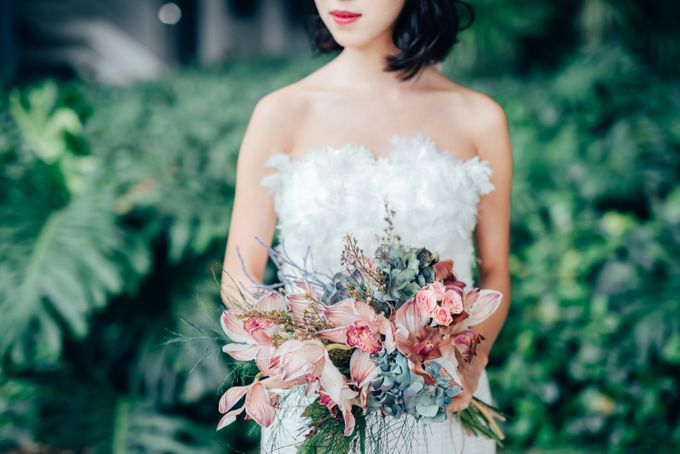 Styled Wedding Shoot with Melissa C Koh by Ever & Blue Floral Design - 011