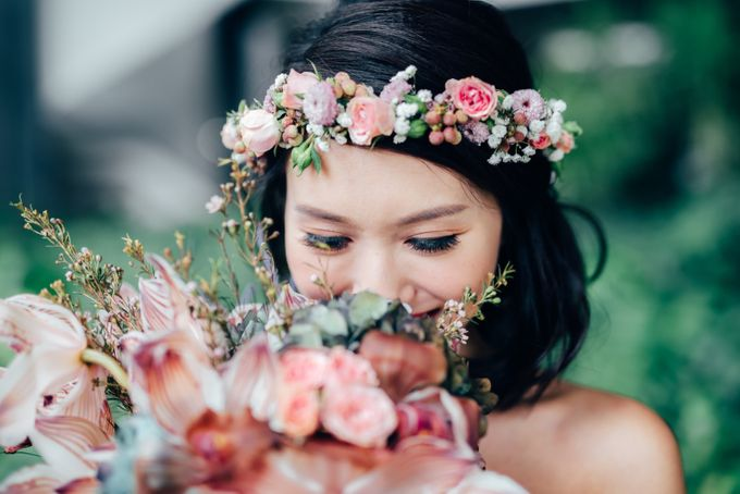 Styled Wedding Shoot with Melissa C Koh by Ever & Blue Floral Design - 014