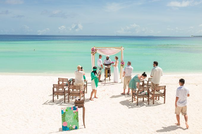 Ron and Aleenas  Beach Wedding in Maldives by Asad's Photography - 012