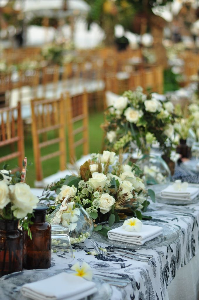 Wedding Dinner of Akta & Jinesh by The Royal Santrian Luxury Beach Villa - 005