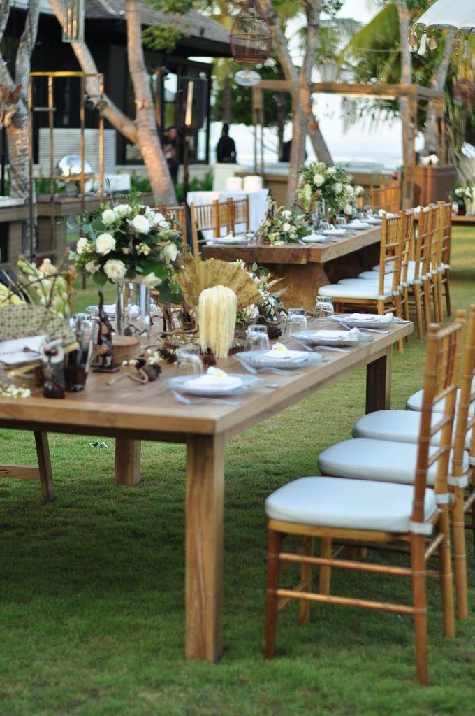 Wedding Dinner of Akta & Jinesh by The Royal Santrian Luxury Beach Villa - 009