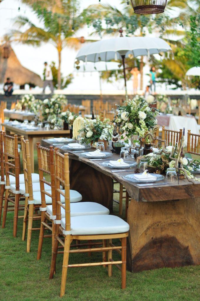 Wedding Dinner of Akta & Jinesh by The Royal Santrian Luxury Beach Villa - 010