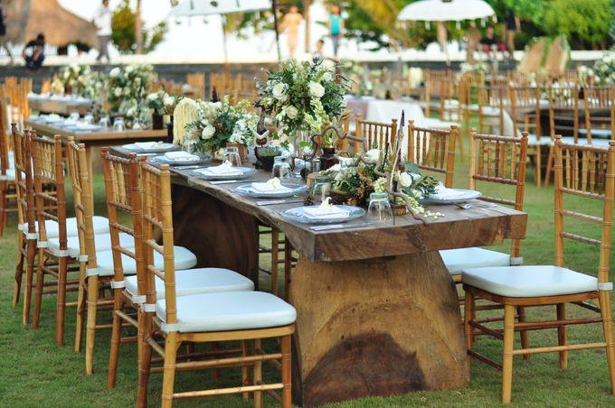 Wedding Dinner of Akta & Jinesh by The Royal Santrian Luxury Beach Villa - 011