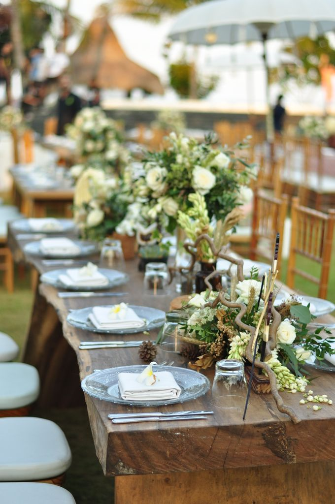Wedding Dinner of Akta & Jinesh by The Royal Santrian Luxury Beach Villa - 012