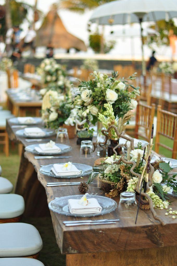 Wedding Dinner of Akta & Jinesh by The Royal Santrian Luxury Beach Villa - 013