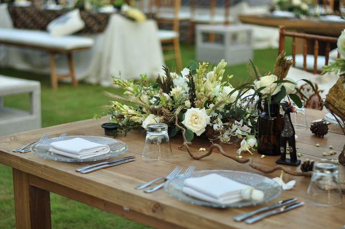 Wedding Dinner of Akta & Jinesh by The Royal Santrian Luxury Beach Villa - 025