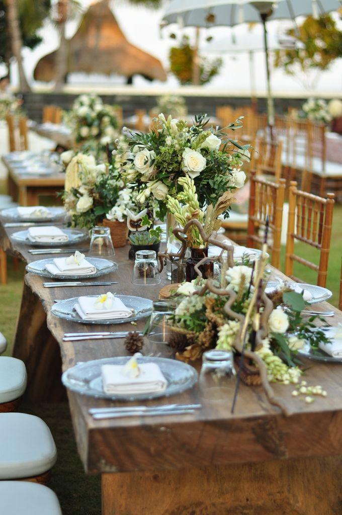 Wedding Dinner of Akta & Jinesh by The Royal Santrian Luxury Beach Villa - 026