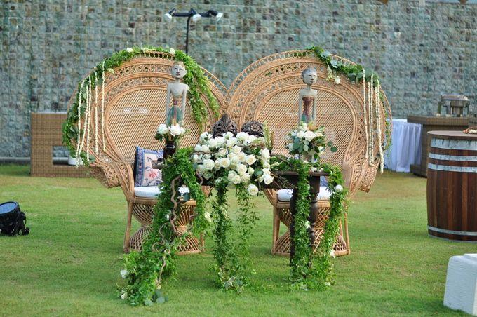 Wedding Dinner of Akta & Jinesh by The Royal Santrian Luxury Beach Villa - 040