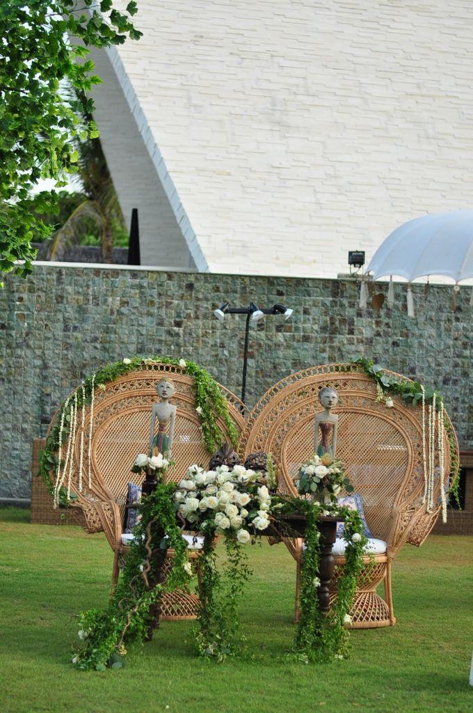 Wedding Dinner of Akta & Jinesh by The Royal Santrian Luxury Beach Villa - 041